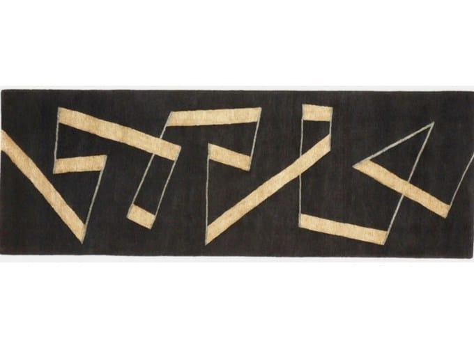 Handmade rectangular rug ZIG ZAG RUNNER by Deirdre Dyson