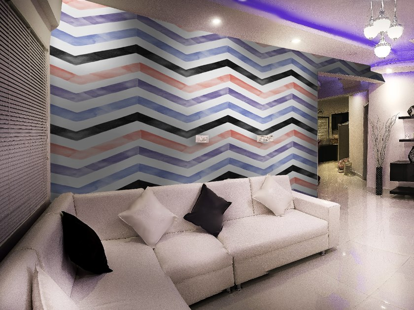Striped wallpaper ZIG ZAG by Wall LCA