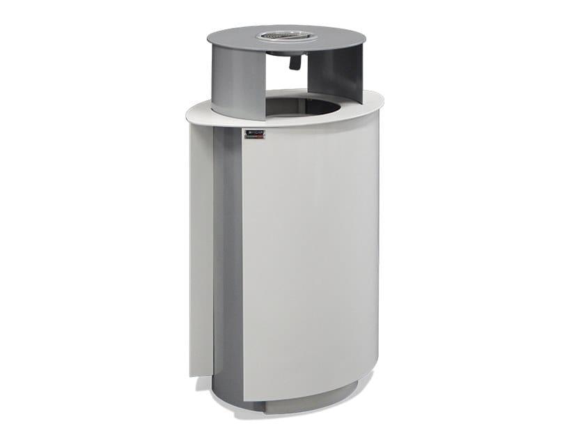 Galvanized steel litter bin with lid ZIGGY | Litter bin with lid by DIMCAR