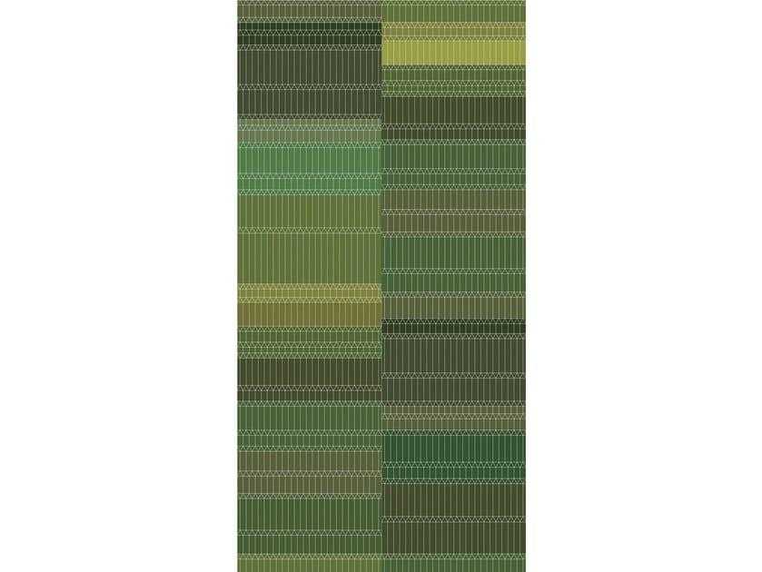 Rectangular striped fabric rug ZIGZAG by moooi