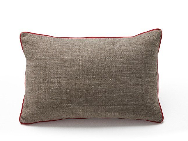 Contemporary style rectangular goose feather cushion ZIP | Rectangular cushion by Viccarbe