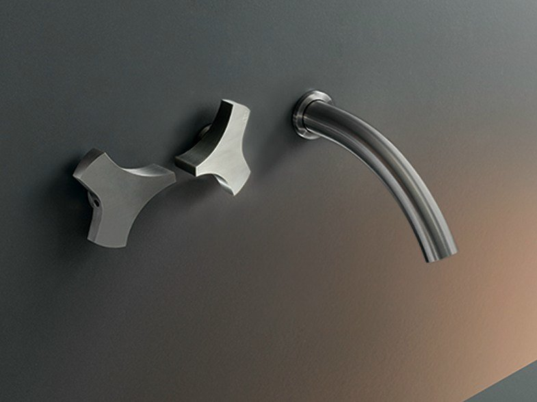 Wall mounted set of 2 individual taps ZIQ 05 by Ceadesign