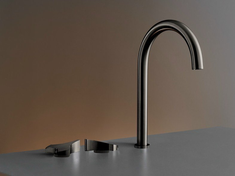 Three-hole mixer with swivelling spout ZIQ 11 by Ceadesign