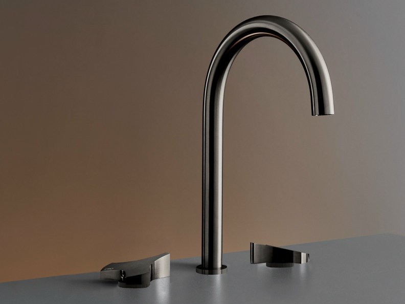 Three-hole mixer with swivelling spout ZIQ 12 by Ceadesign