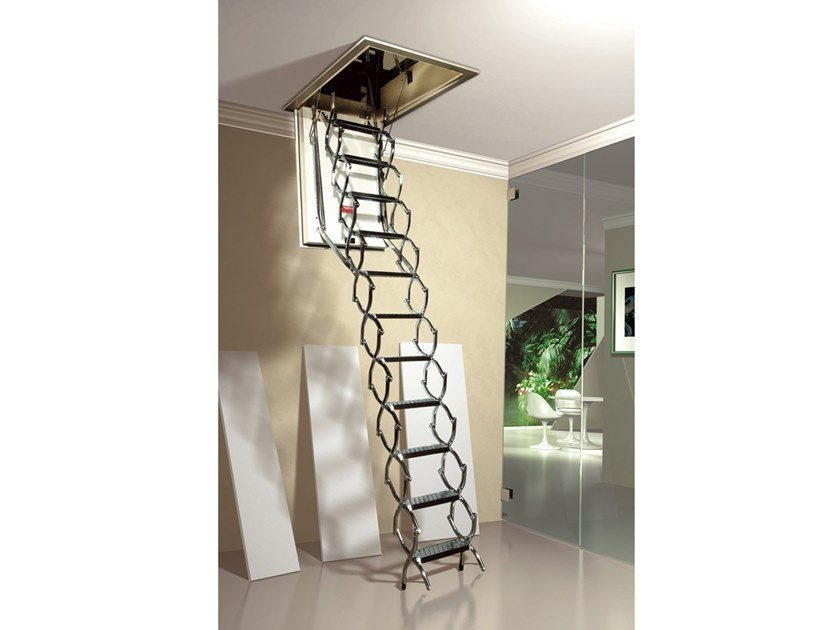 Steel Retractable stair ZK ISO by MOBIROLO