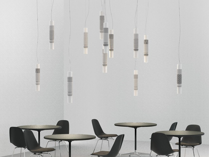 LED quarry pendant lamp ZOE 12 by Made a Mano