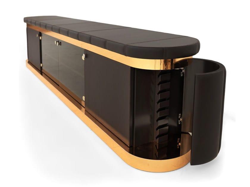 Mobile TV basso in pelle ZOLDER by Tonino Lamborghini Casa