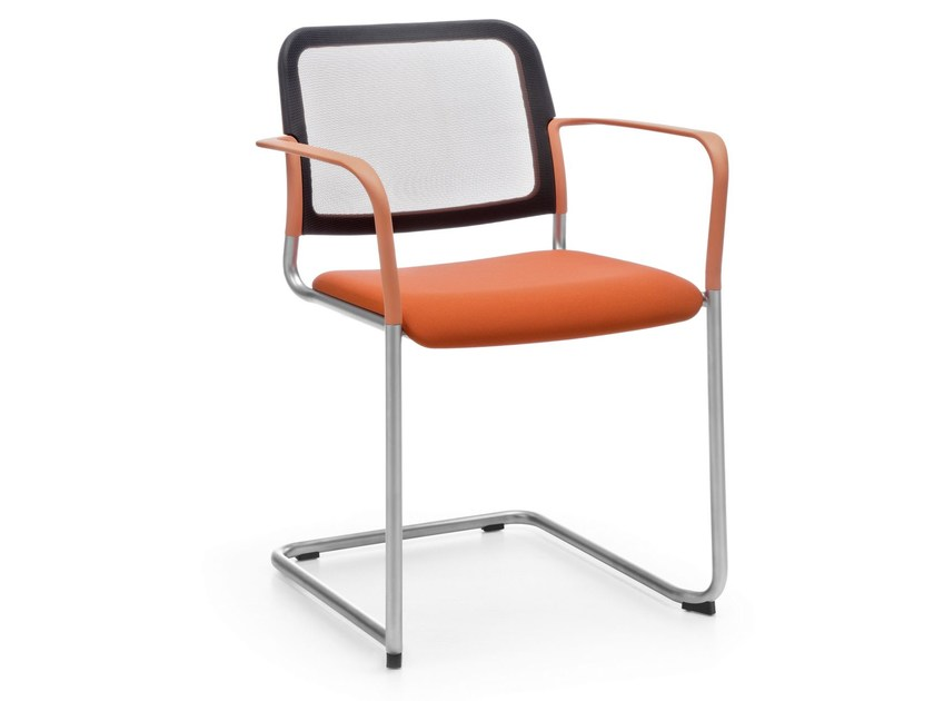 Cantilever stackable training chair ZOO 505V by profim