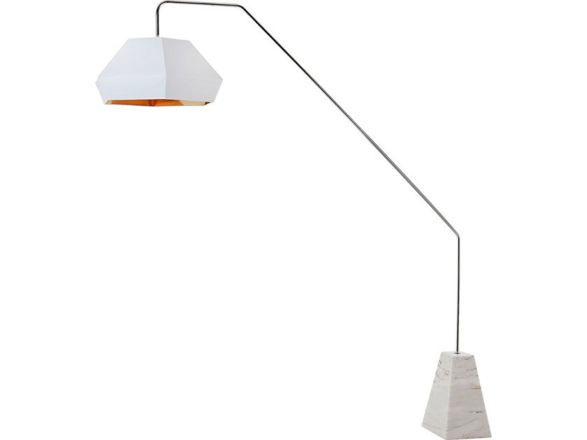 Direct light marble floor lamp ZOOM by Flam & Luce