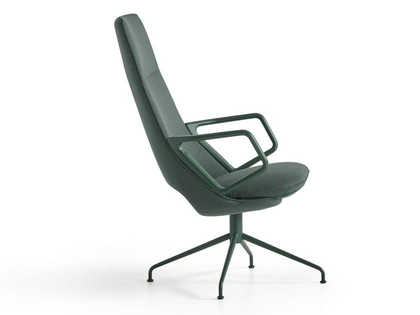 Swivel high-back armchair ZUMA | Armchair by Artifort