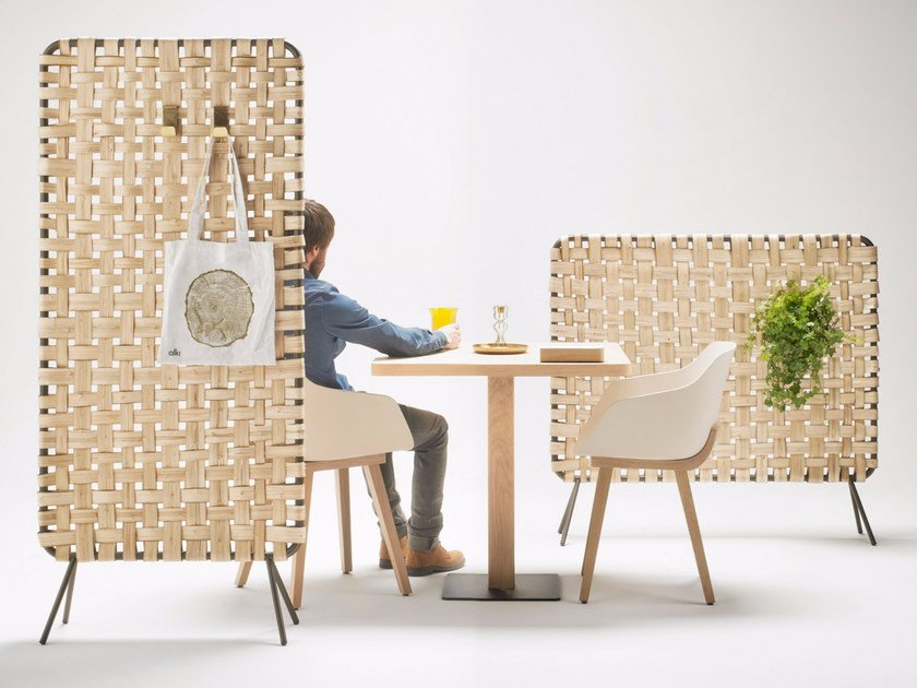 Wooden room divider ZUMITZ by ALKI