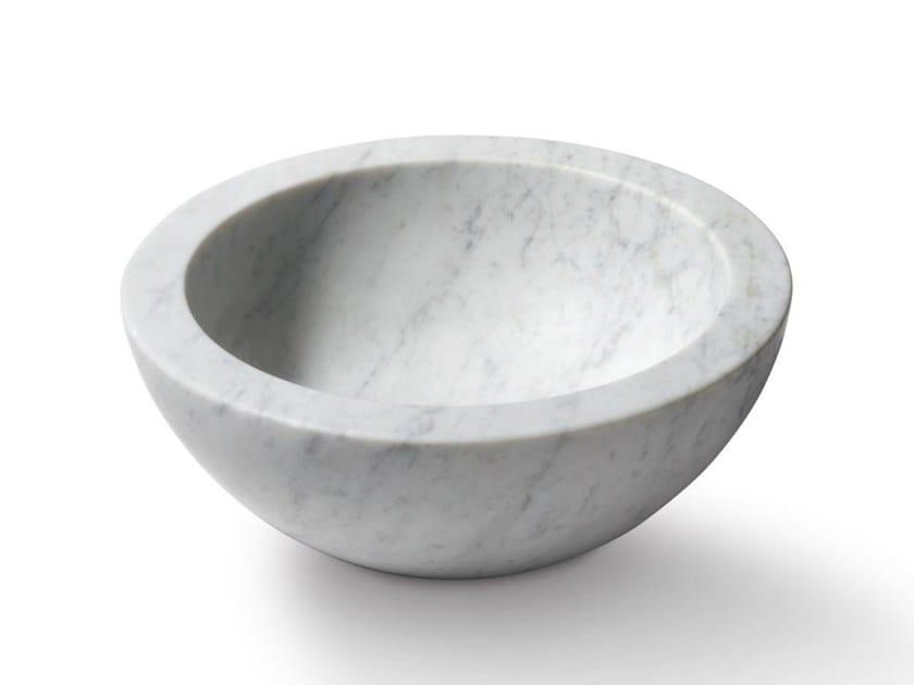 Countertop round stone washbasin ZUPPIERA by SALVATORI