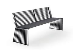 Panchina in metallo con schienale015 | Panchina con schienale - URBANTIME