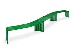 Panchina componibile modulare in metallo015 | Panchina curva - URBANTIME