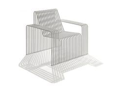 Poltrona da giardino in metallo con braccioli015 | Seduta da esterni - URBANTIME