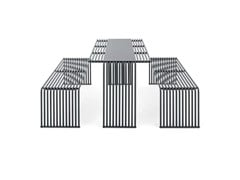 Tavolo per spazi pubblici rettangolare in metallo015 | Tavolo per spazi pubblici - URBANTIME