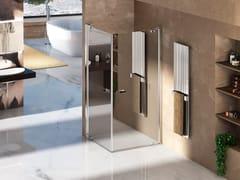 Box doccia angolare con porta pivotante NATURA 4000 - A-EDT L/R - Quadra – con profili verticali e orizzontali