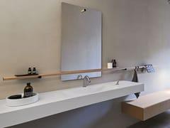 Lavabo rettangolare in Cristalplant® con pianoOTTOCENTO 002 | Lavabo - AGAPE