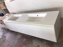 Mobile lavabo sospeso in Corian®Mobile lavabo - CAVALLARO MARCO