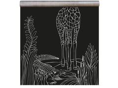 Carta da parati magnetica in vinile WHITE PRINT GIRAFFE - Chalkboard