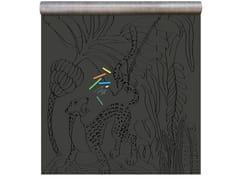 Carta da parati magnetica in vinile BLACK PRINT RACCOON - Chalkboard