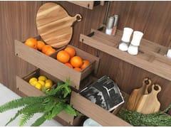 Schienale per cucina attrezzato in legnoEMPORIO - ORNARE