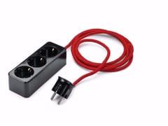 Presa elettrica mobile in plastica a 3 moduli 100457 -