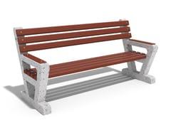 Panchina in calcestruzzo e legno con schienale109 | Panchina in calcestruzzo - ENCHO ENCHEV - ETE