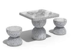 Tavolo da scacchi in calcestruzzo111 | Tavolo da gioco - ENCHO ENCHEV - ETE