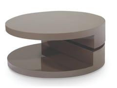 Tavolino laccato rotondo in legno con portariviste116 | Tavolino - ESOU (LANGFANG) IMPORT AND EXPORT TRADE COMPANY