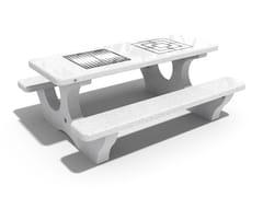 Tavolo per spazi pubblici / tavolo da gioco in calcestruzzo117 | Tavolo da gioco - ENCHO ENCHEV - ETE