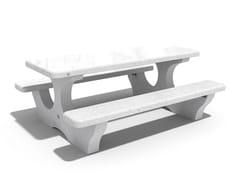 Tavolo da picnic in calcestruzzo con panchine integrate118 | Tavolo da picnic - ENCHO ENCHEV - ETE