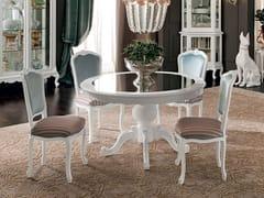 Tavolo da salotto rotondo in legno massello 12143 | Tavolo - Casanova