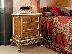 Comodino in legno massello con cassetti 12208 | Comodino - Casanova