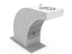 Fontana a pavimento in calcestruzzo per disabili123 | Fontana - ENCHO ENCHEV - ETE
