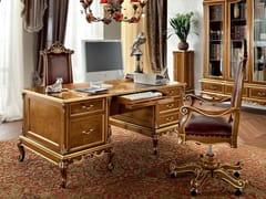 Scrivania rettangolare in legno massello con cassetti 12303 | Scrivania - Casanova