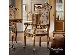 Sedia imbottita in legno massello con braccioli 12502 | Sedia con braccioli - Casanova