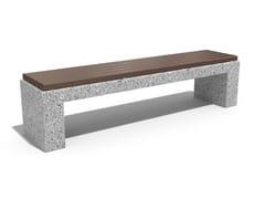 Panchina in calcestruzzo e legno senza schienale126/212 | Panchina in calcestruzzo - ENCHO ENCHEV - ETE