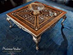 Tavolino basso quadrato in legno massello 12627   Tavolino - Casanova