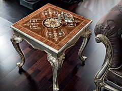 Tavolino quadrato in legno massello da salotto 12628   Tavolino - Casanova