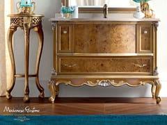 Mobile lavabo singolo in legno massello con cassetti 12676 | Mobile lavabo - Casanova