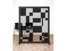 Pannello divisorio geometrico in IMPEX® e struttura in legno130 ERRE - SPAZIO 81