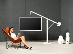 Supporto per monitor/TV orientabile a pavimento BALANCE - ART131 | Supporto per monitor/TV - WISSMANN RAUMOBJEKTE