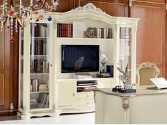 Libreria a giorno autoportante con porta tv 13301 | Libreria - Bella Vita