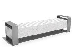 Panchina in calcestruzzo senza schienale134 | Panchina in calcestruzzo - ENCHO ENCHEV - ETE