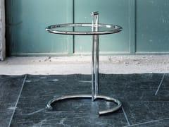 Tavolino in acciaio inox e cristallo 1409 | Tavolino - Tavolini