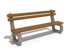 Panchina in calcestruzzo e legno con schienale142 | Panchina in calcestruzzo - ENCHO ENCHEV - ETE