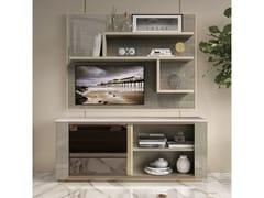 Mobile TV in legno con libreriaRICHMOND UPON THAMES | Mobile TV con libreria - BARNINI OSEO