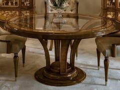 Tavolo rotondo in legno di castagno con piano in vetro1430 | Tavolo - BELLOTTI EZIO ARREDAMENTI