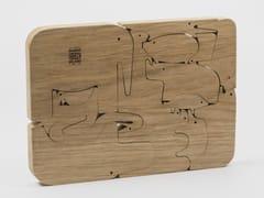 Puzzle componibile in legno massello di rovere16 ANIMALI - DANESE MILANO